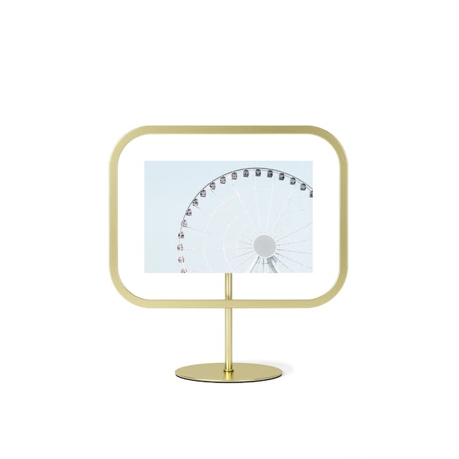 Infinity Rectangle Photo Display - Small - Brass - 2