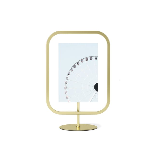 Infinity Rectangle Photo Display - Small - Brass - 0