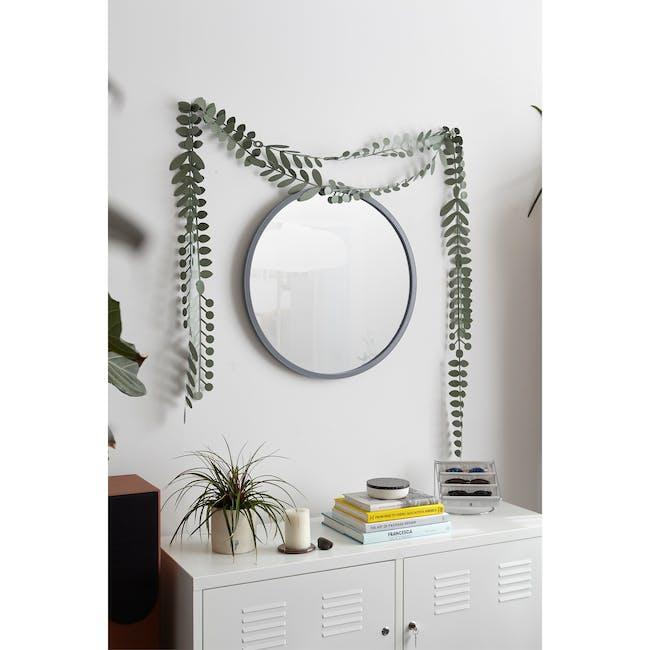 Hub Round Mirror 61 cm - Grey - 1