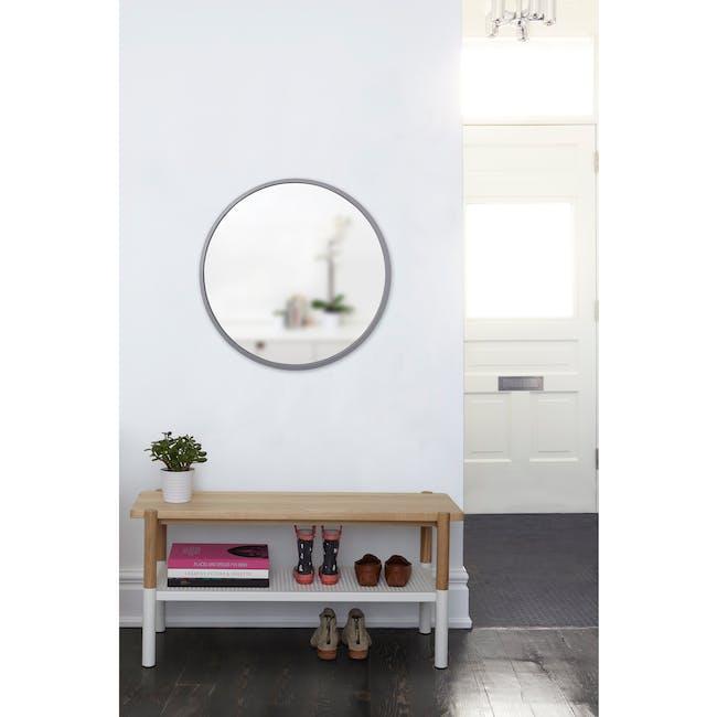 Hub Round Mirror 61 cm - Grey - 4