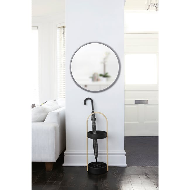 Hub Round Mirror 61 cm - Grey - 5