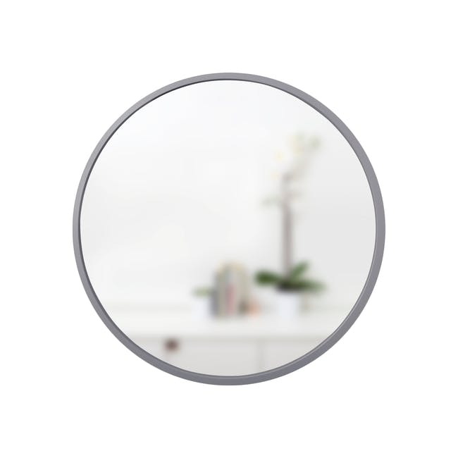 Hub Round Mirror 61 cm - Grey - 0
