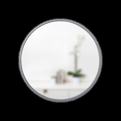 Hub Round Mirror 61 cm - Grey - Image 1