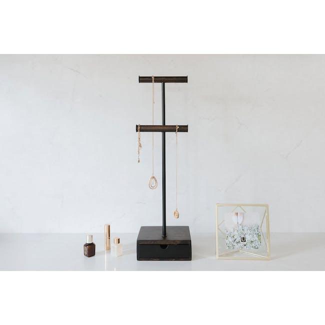 Pillar Jewelry Stand with Drawer - Walnut - 6