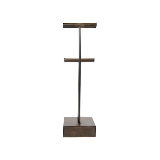 Pillar Jewelry Stand with Drawer - Walnut - 4