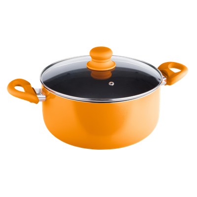 Lamart MULTICOLOR Casserole with Lid 24cm - Orange - Image 1