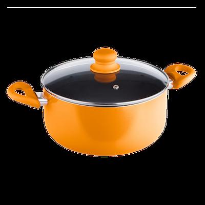 Lamart MULTICOLOR Casserole with Lid 24cm - Orange - Image 1