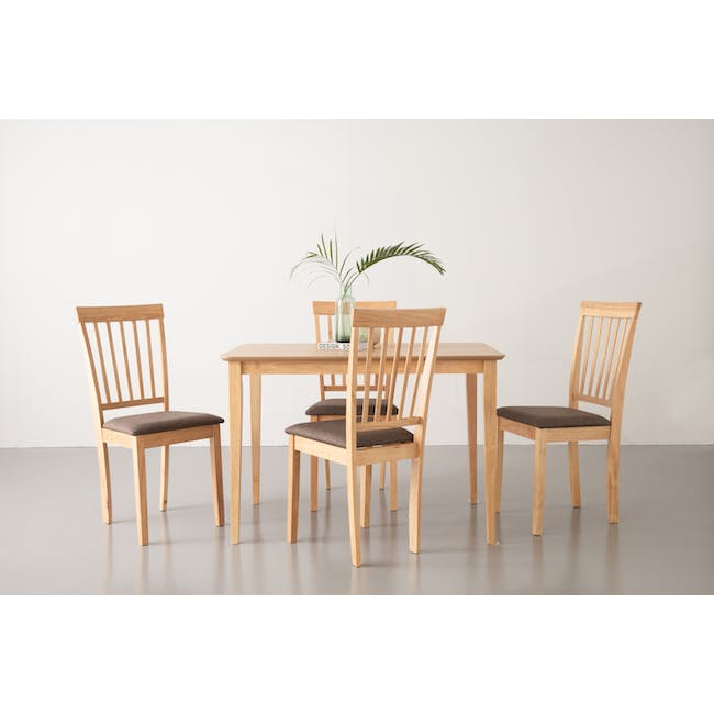 Myla Dining Chair - Natural, Chestnut - 4