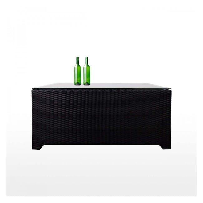 Black Fiesta Outdoor Sofa Set II - Orange Cushions - 4