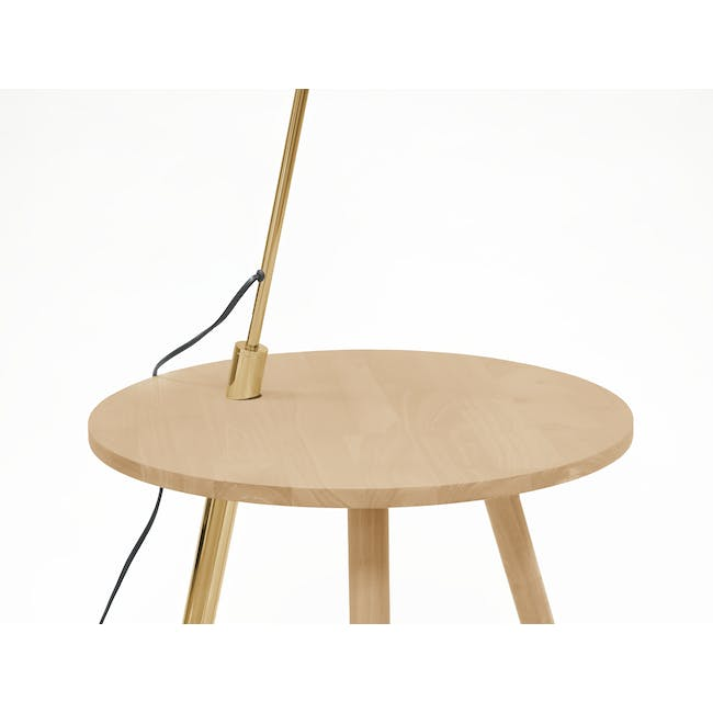 Alonso Floor Lamp / Side Table - 3