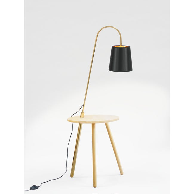Alonso Floor Lamp / Side Table - 6