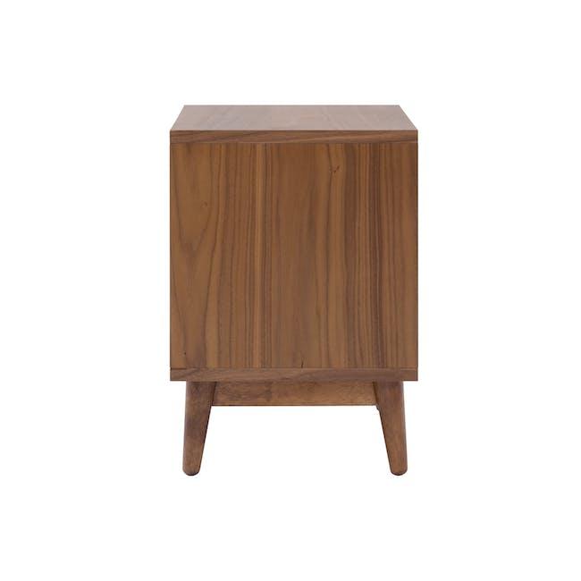 Kyoto Twin Drawer Bedside Table - Walnut - 4