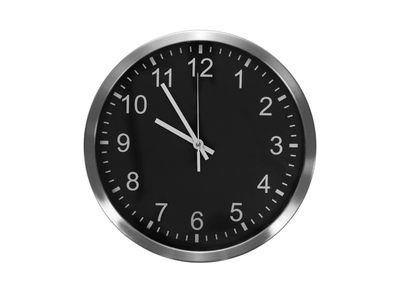 Chrome Frame Wall Clock