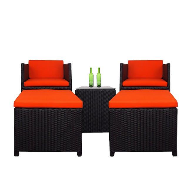 Splendor Armchair Set - Orange Cushion - 0