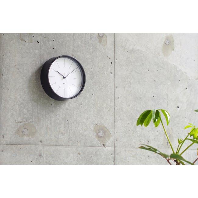 Riki Steel Clock - White - 1