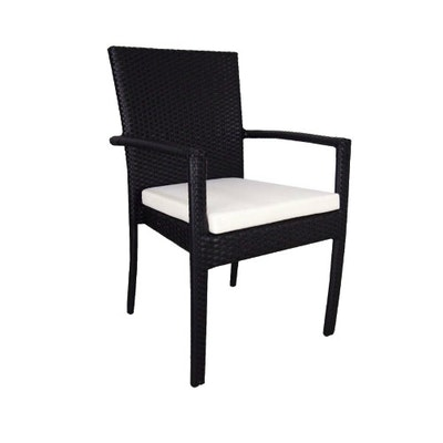 Palm Dining Set with White Cushions - Image 2