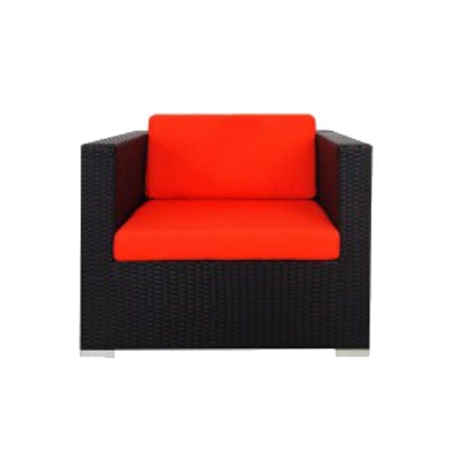 Summer Modular Outdoor Sofa Set - Orange Cushions - 8