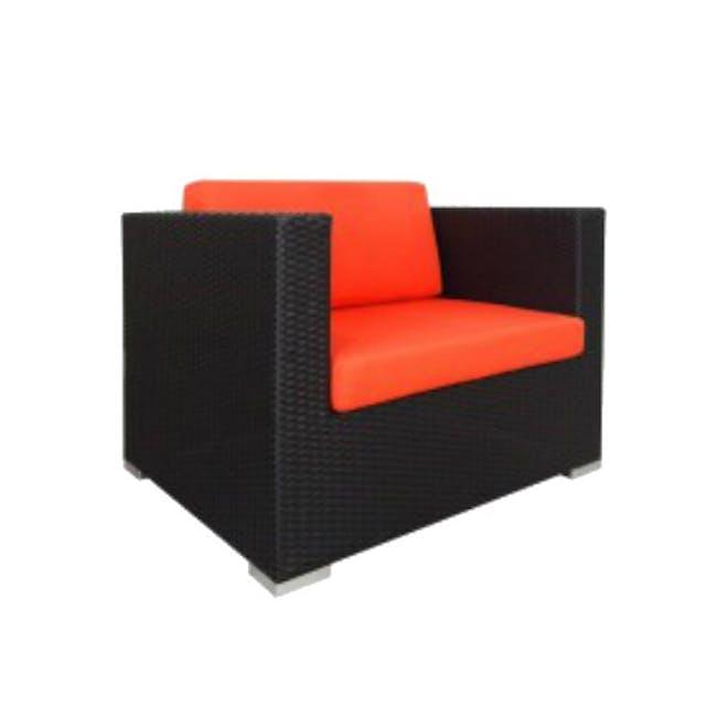 Summer Modular Outdoor Sofa Set - Orange Cushions - 2