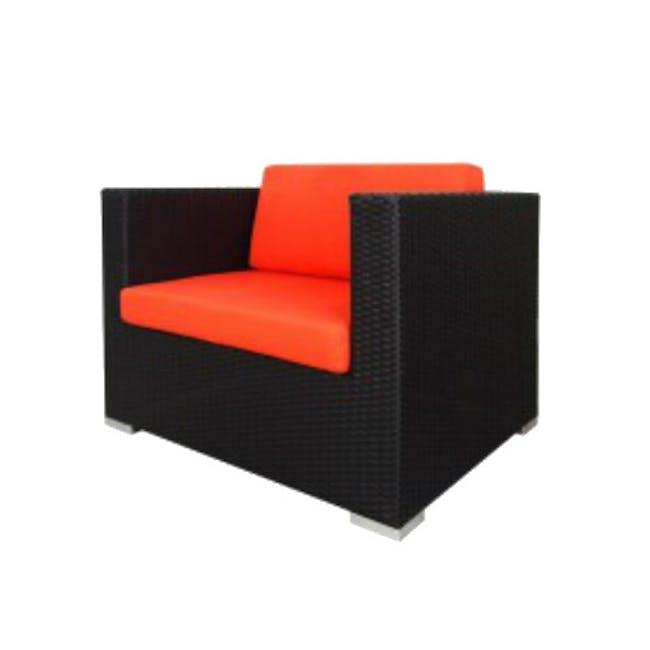 Summer Modular Outdoor Sofa Set - Orange Cushions - 3
