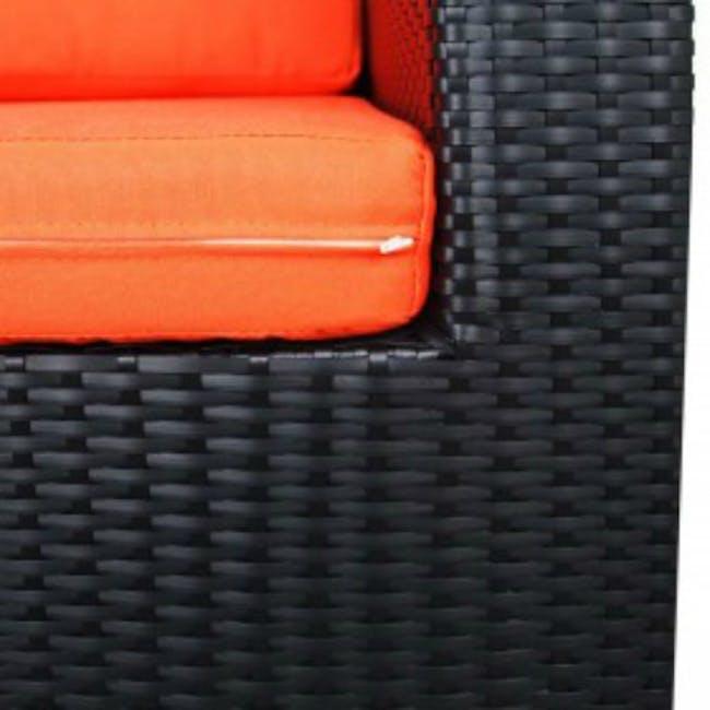 Summer Modular Outdoor Sofa Set - Orange Cushions - 4