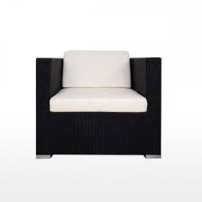 Summer Modular Outdoor Sofa Set - Creamy White Cushions - 1