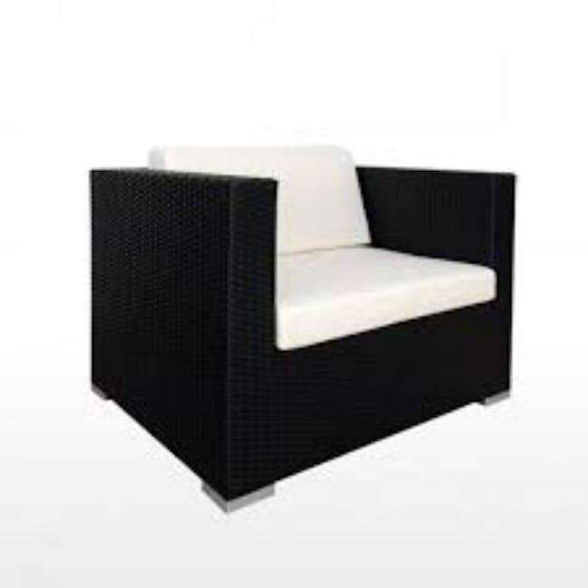 Summer Modular Outdoor Sofa Set - Creamy White Cushions - 2