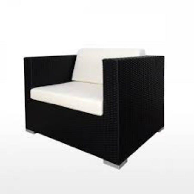 Summer Modular Outdoor Sofa Set - Creamy White Cushions - 3