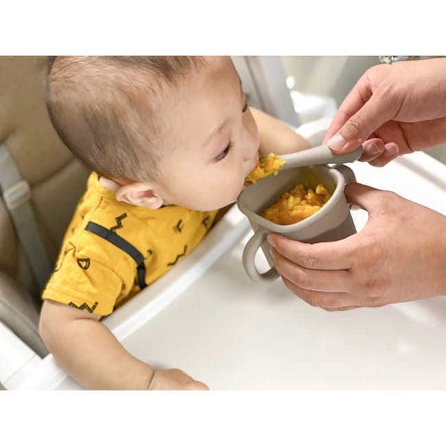 MODU'I Silicone Baby Spoon - Cream (Set of 2) - 12