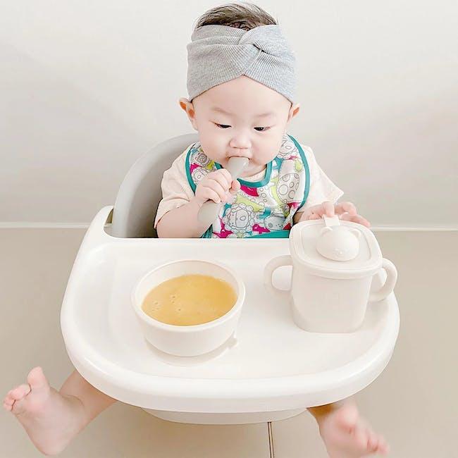 MODU'I Silicone Baby Spoon - Cream (Set of 2) - 1