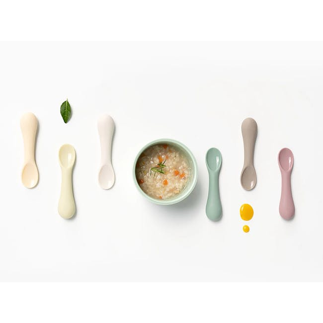 MODU'I Silicone Baby Spoon - Cream (Set of 2) - 3
