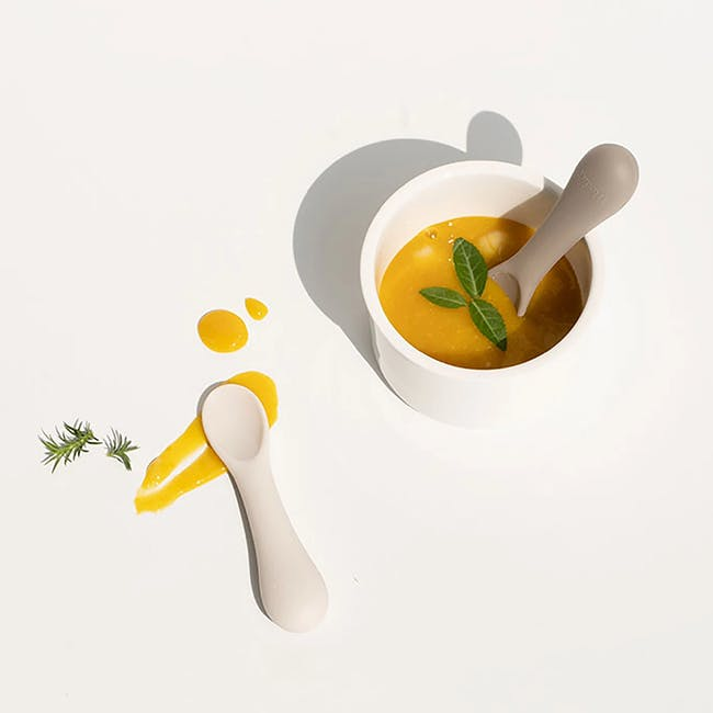 MODU'I Silicone Baby Spoon - Cream (Set of 2) - 2