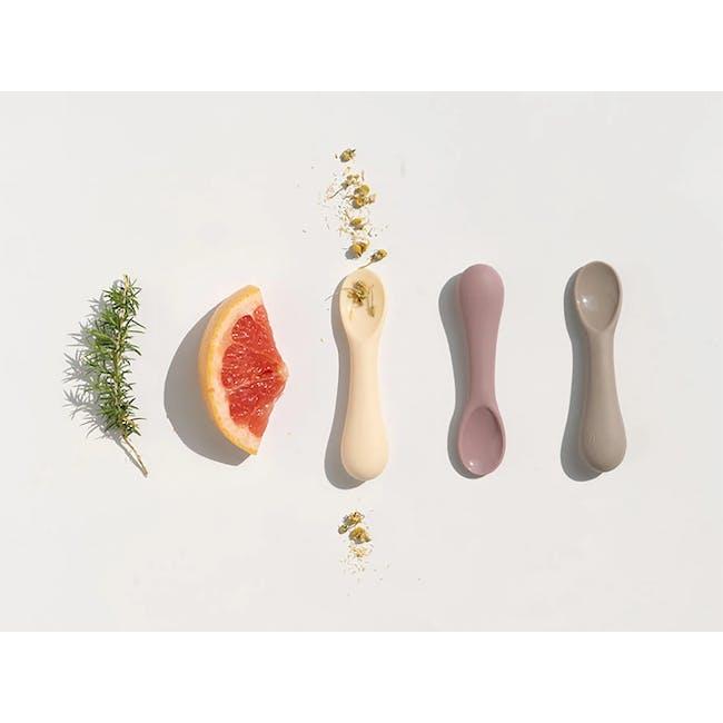 MODU'I Silicone Baby Spoon - Cream (Set of 2) - 6