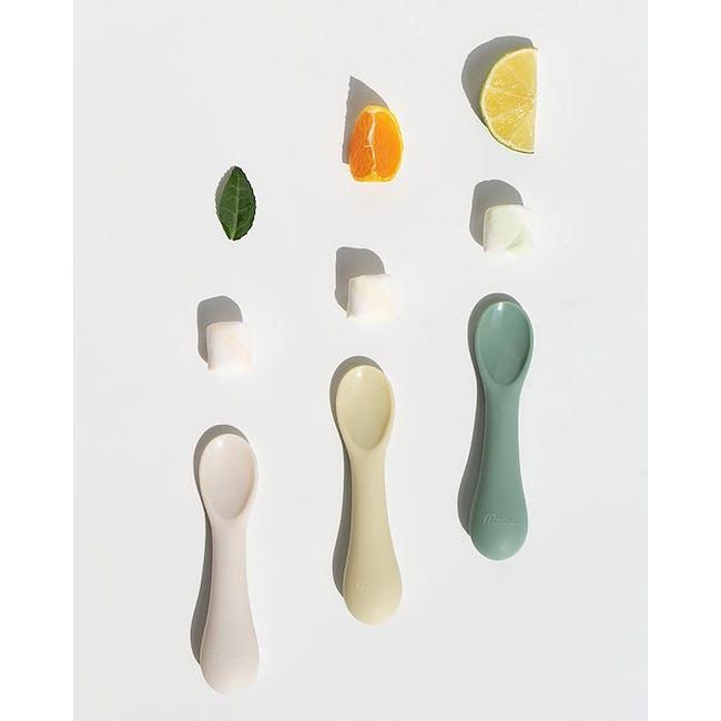MODU'I Silicone Baby Spoon - Cream (Set of 2) - 7
