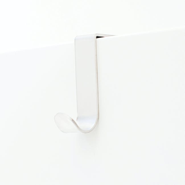 Bosign Single J-Hook over Drawer / Cupboard - White (Pack of 2) - 0