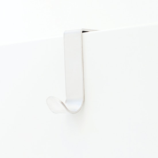 BOSIGN - Single J-Hook over Drawer / Cupboard - White (Pack of 2)