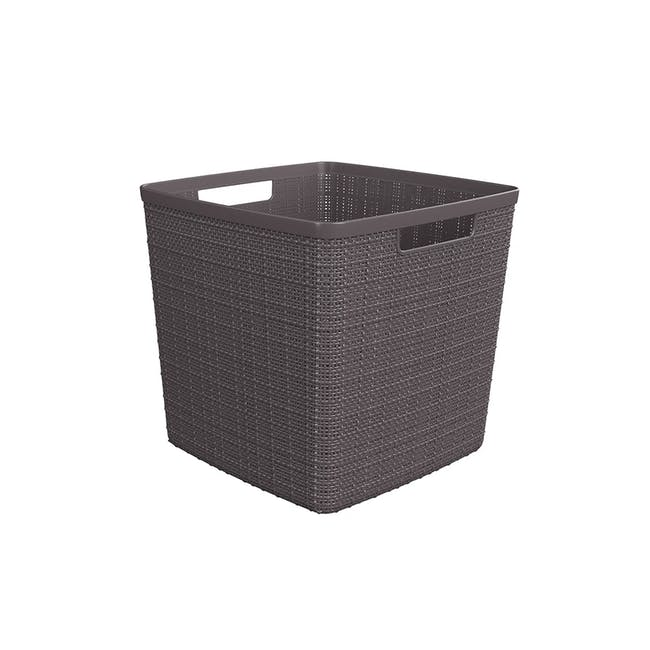 Jute Basket Cube 17L - Peppercorn - 0