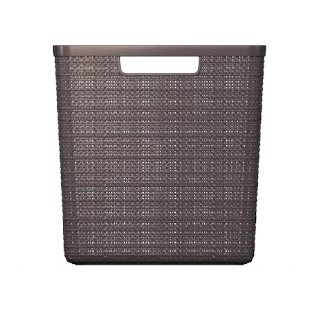 Jute Basket Cube 17L - Peppercorn - 4