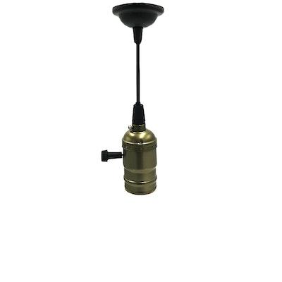 Vintage Pendant Light Holder - Antibrass