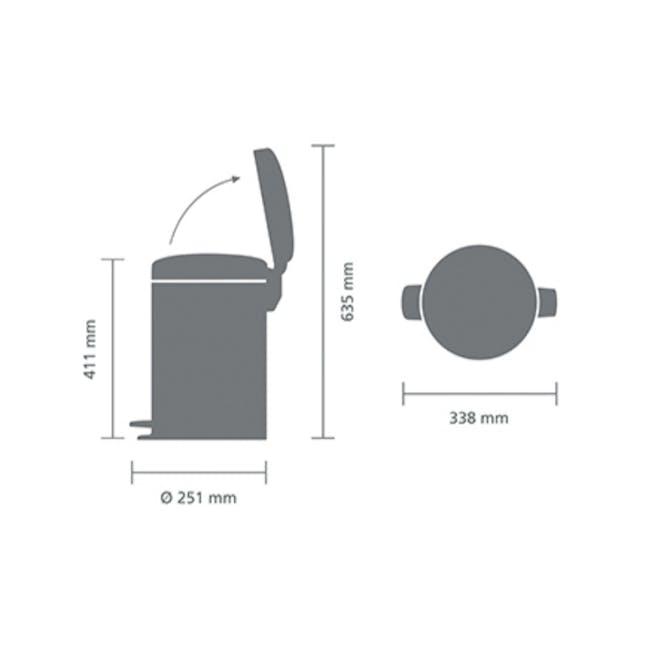 Brabantia 12L Pedal Bin NewIcon - Matt Steel - 3