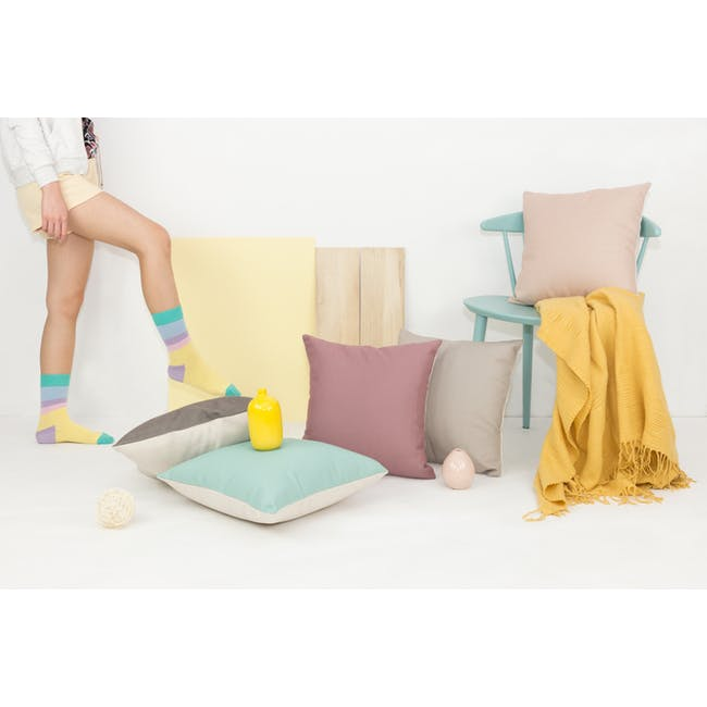 Throw Cushion Cover - Peach - 7