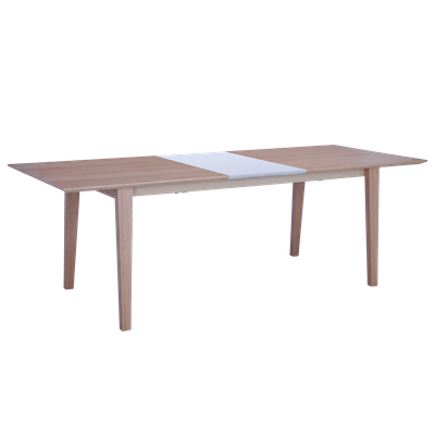 Kiros Extendable Dining Table 1.8m - Oak, White - Image 2
