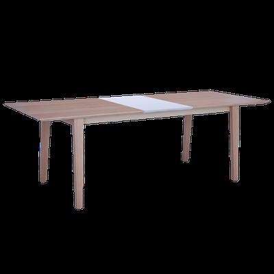 Kiros Extendable Dining Table 1.8m - Oak, White - Image 2