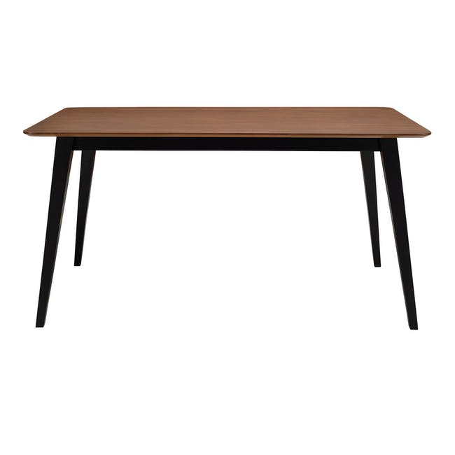 Ralph Dining Table 1.2m in Cocoa with 2 Miranda Benches in Onyx Grey - 2