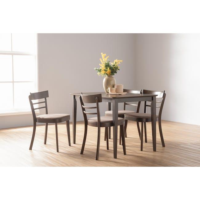 Charmant Dining Table 1.1m - Dark Chestnut - 5