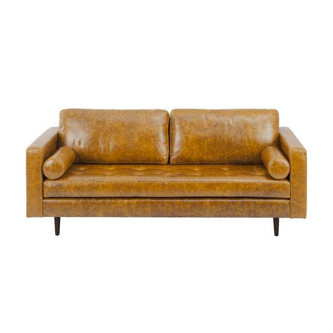 Nolan 3 Seater Sofa - Butterscotch (Premium Waxed Leather) - 0
