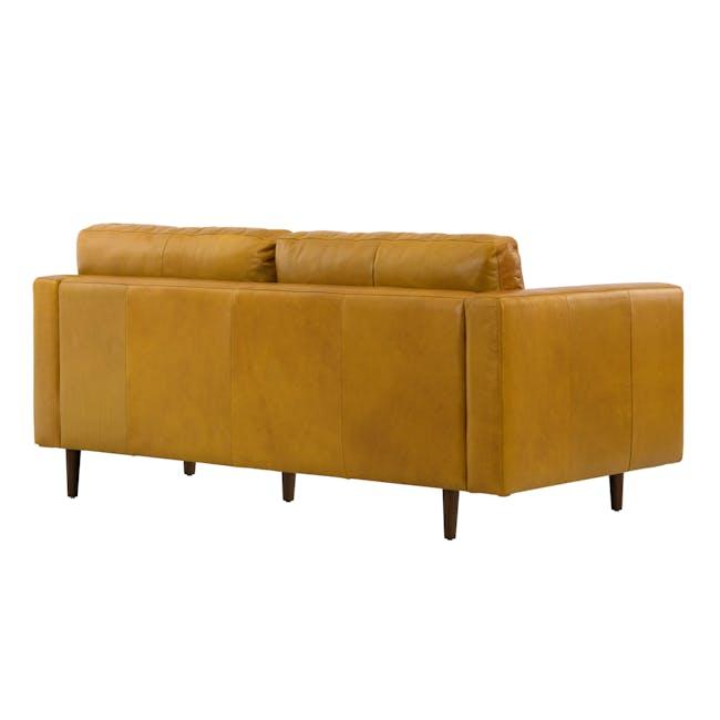 Nolan 3 Seater Sofa - Butterscotch (Premium Waxed Leather) - 4