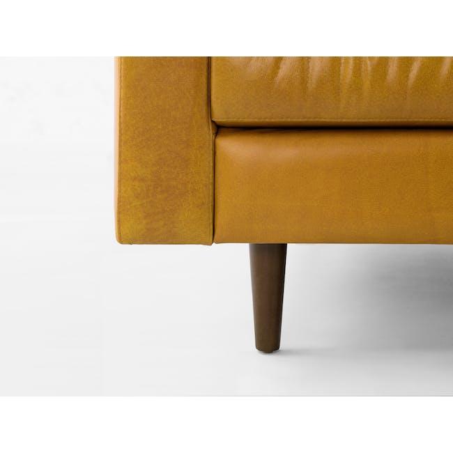 Nolan 3 Seater Sofa - Butterscotch (Premium Waxed Leather) - 6