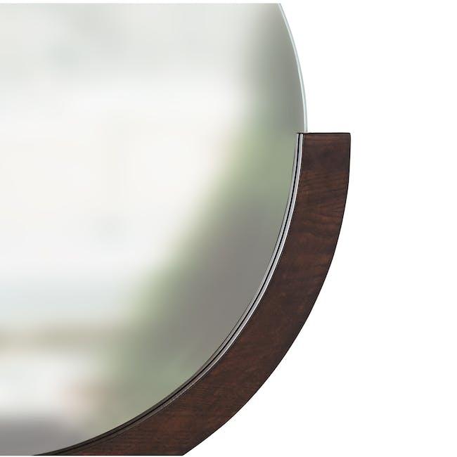 Mira Round Mirror 82 cm - Walnut - 3