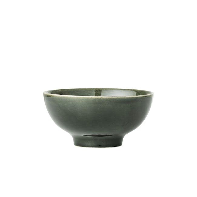 Haga Small Bowl - Green with White Rim - 0