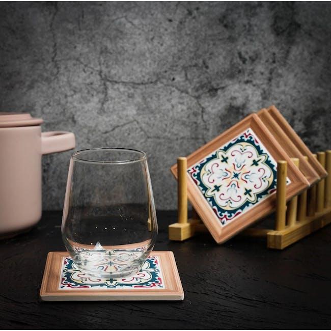Peranakan Ceramic Cup Coaster - Kina - 1